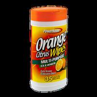 PowerHouse Orange Citrus Multi-Purpose Cleaner Wipes - 35 CT