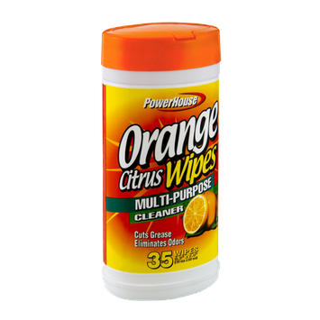 PowerHouse Orange Citrus Multi-Purpose Cleaner Wipes - 35 CT