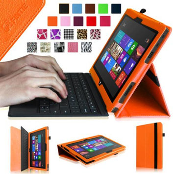 Fintie Folio Leather Case Cover for Microsoft Surface RT / Surface 2 10.6 inch Tablet, Orange