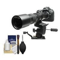 Rokinon 500mm f/8 Telephoto Lens with 2x Teleconverter (=1000mm) for Nikon D3100, D3200, D5100, D7000, D700, D800, D4 Digital SLR Cameras