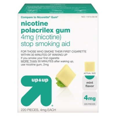up & up up&up Nicotine Polacrilex 4 mg Mint Gum - 220 Count