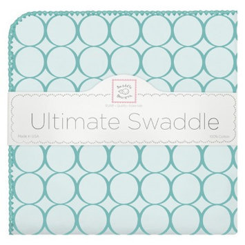 Swaddledesigns Swaddle Designs Ultimate Receiving Blanket - Turquoise Mod Circles