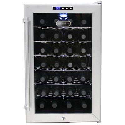 Whynter LLC 28 Bottles Wine Cooler Platinum with lock
