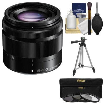Panasonic Lumix G Vario 35-100mm f/4.0-5.6 OIS Zoom Lens (Black) with Tripod + 3 Filters + Kit for Galaxy NX, NX30, NX300, NX2000, NX3000 Cameras