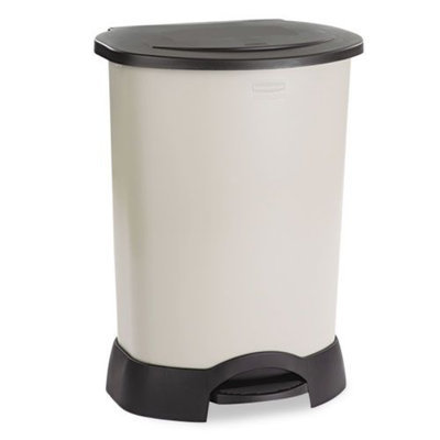 Rubbermaid Commercial Step-On Container, 30 gal, Light Platinum