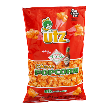 Utz Cheese Popcorn Spiked with Tabasco