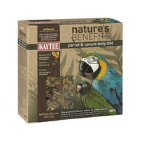 Kaytee Pet Products BKT100503497 Nature's Benefits Parrot and Conure Daily Diet Box, 3.25-Pound