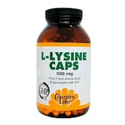 Country Life L-lysine 500 Mg with B-6, 50 V-Caps