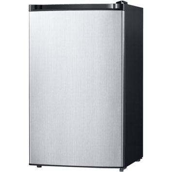 Midea 4.4 cu ft Compact Refrigerator, Stainless Steel Look