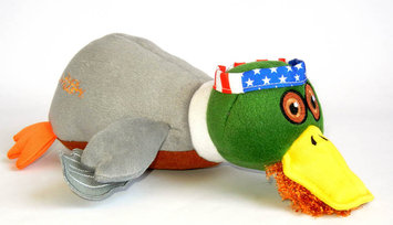 Quaker Pet Group Duck Dynasty Willie Duck Plush Dog Toy Small