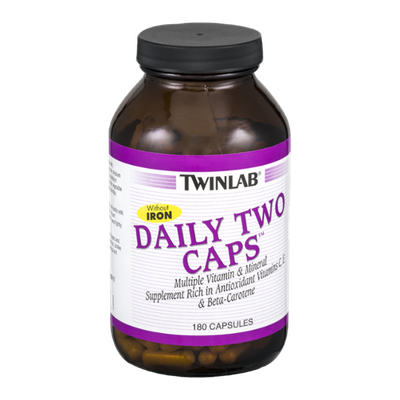 Twinlab Daily Two Caps Multiple Vitamin & Mineral Supplement Capsules - 180 CT