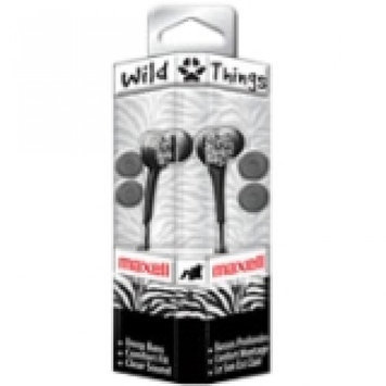 Maxell Green and Purple Wild Things Earbuds with Microphone Multi color