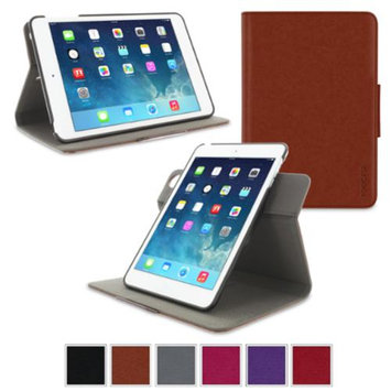 Apple iPad Mini 3 (2014) Case - roocase Orb System Folio 360 Dual View Leather Case Smart Cover with Sleep / Wake Feature for Apple iPad Mini 1 2 3 (2014) Brown - Patented Complete Lifestyle Solution