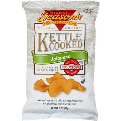 Michael Season's Kettle Cooked Jalapeno Potato Chips, 2 Ounce Bags (Pack of 24)