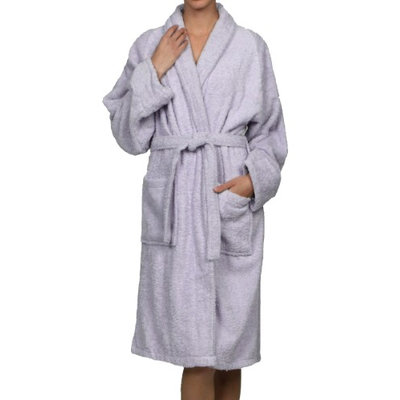 Blue Nile Mills Unisex 100% Egyptian Cotton Bath Robe Extra-Large, Lilac