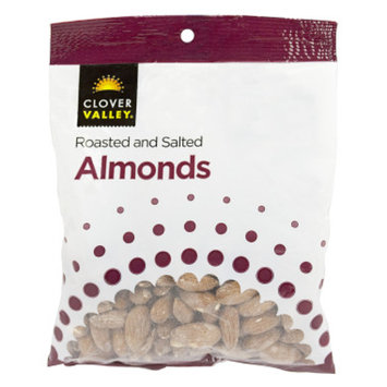 Clover Valley Roasted and Salted Almonds, 3 oz