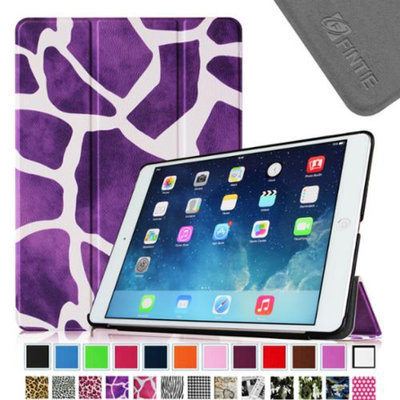 Fintie Smart Shell Leather Case Cover for Apple iPad Air (iPad 5 5th Generation), Giraffe Purple
