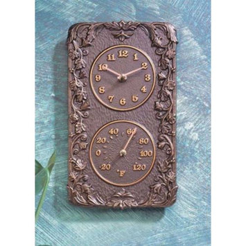 Whitehall Rust-Free Aluminum Clock and Thermometer Combo (French Bronze)