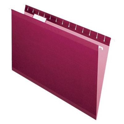 Pendaflex Reinforced Hanging Folders with 1/5 Tab, Legal - Burgundy