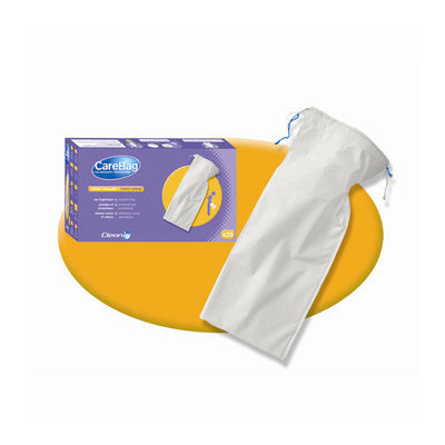 Cleanis Carebag Men's Urinal with Super Absorbent Pad (Set of 20 Liners)