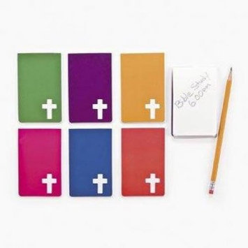 Oriental Trading Company Religious Notepads with Cross Cutout