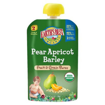Earth's Best Fruit and Grain Puree - Pear Apricot Barley 4.2oz (12