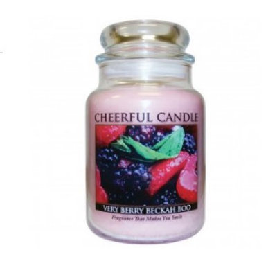 A Cheerful Candle JC82 15Oz. Very Berry Beckah Boo Signature Colonial Jar