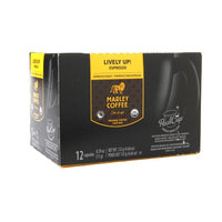 Marley Coffee Organic Real Cups Single Serve, Espresso Roast Lively Up