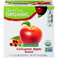 Santa Cruz Organic Apple Cinnamon Sauce, 3.2 OZ (Pack of 6)
