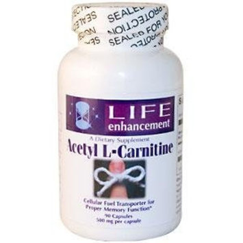 Life Enhancement Acetyl L-Carnitine, 500 mg, 90 Capsules