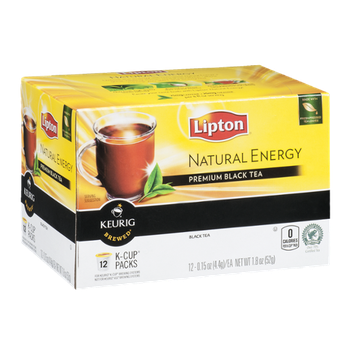 Lipton Keurig Brewed Natural Energy Premium Black Tea - 12 CT