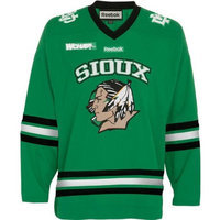 North Dakota Fighting Sioux Reebok Green Premier Hockey Jersey