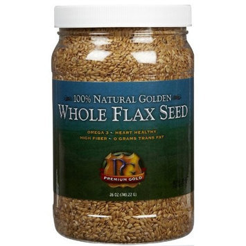 Premium Gold Whole Flax seed, Jars, 26 oz
