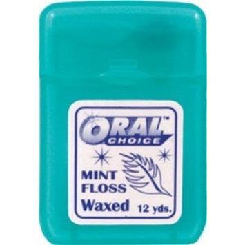 Oral Choice Waxed Flat Mint Ribbon Dental Floss, 144 pcs