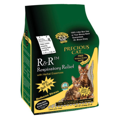 Precious Cat Respiratory Relief Clumping Clay Cat Litter