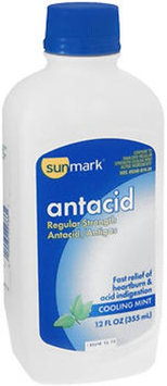 Sunmark Antacid Anti-Gas Liquid Regular Strength, Cherry Mint 12 oz by Sunmark