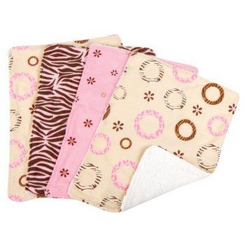 Trend Lab 8 Pc. Bib and Burp Cloth Set -Safari Pink by Lab