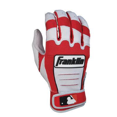 Franklin Sports CFX Pro Adult Series Batting Glove, White/Red - XX-Large