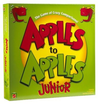 Apples to Apples Junior The Game of Crazy Comparisons