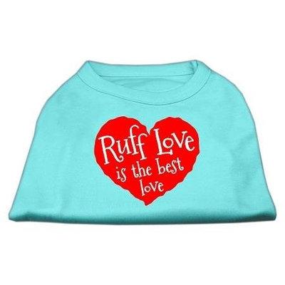 Ahi Ruff Love Screen Print Shirt Aqua XL (16)