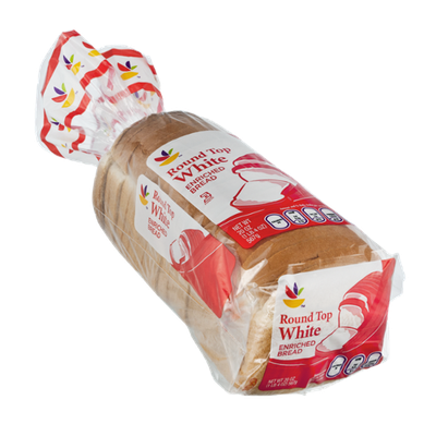 Ahold Round Top Enriched White Bread