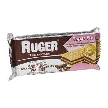 Ruger Chocolate Cream Filled Wafers Sugar Free