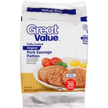 Great Value Original Pork Sausage Patties, 35.56 oz
