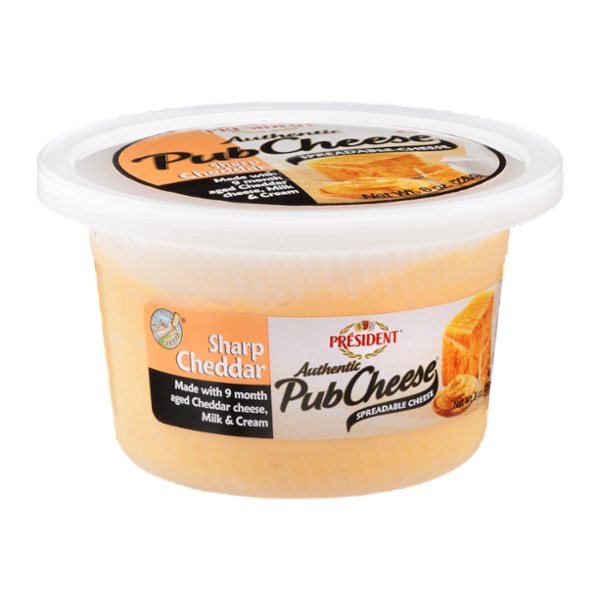 President Authentic Pub Cheese Sharp Cheddar Spreadable