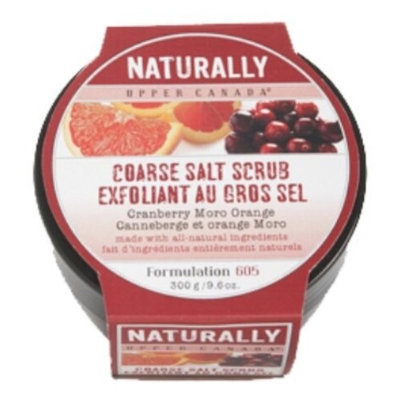 Upper Canada Soap   Candle Upper Canada Soap And Candle Naturally Salt Scrub In Cranberry Moro Orange, 9.6-Ounce Jars (Pack of 2)