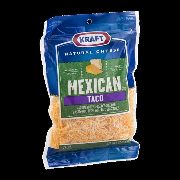 Kraft Mexican Taco Cheese Shredded