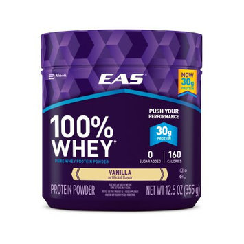 Abbott Nutrition EAS 100% Whey Protein Powder Vanilla Dietary Supplement, 12.5 oz, Pack of 12)