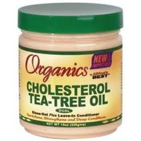 Africa's Best Africas Best Organics Cholesterol Teatree Conditioner 15oz Jar