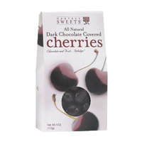 Harvest Sweets Dark Chocolate Covered Cherries, 4-Ounce (Pack of 6)