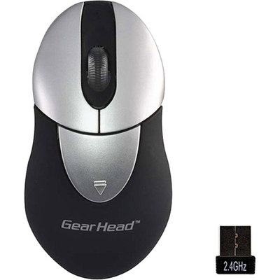 Gear Head Wireless Optical Nano Mouse, Black